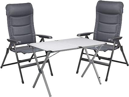CAMPART TRAVEL Juego de camping para 2 personas, mesa ...