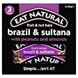 Eat Natural Brazils, Sultanas, Almonds & Hazelnuts Bars (3x50g) - Pack of 2