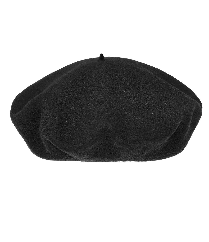 Fiebig Basco Maschile Berretto Protezione Di Autunno Cappello Invernale Cap Francese Artista Uni Con Fodera Per Uomini (FI-40100-W16-HE0) incl. EveryHead-Hutfibel