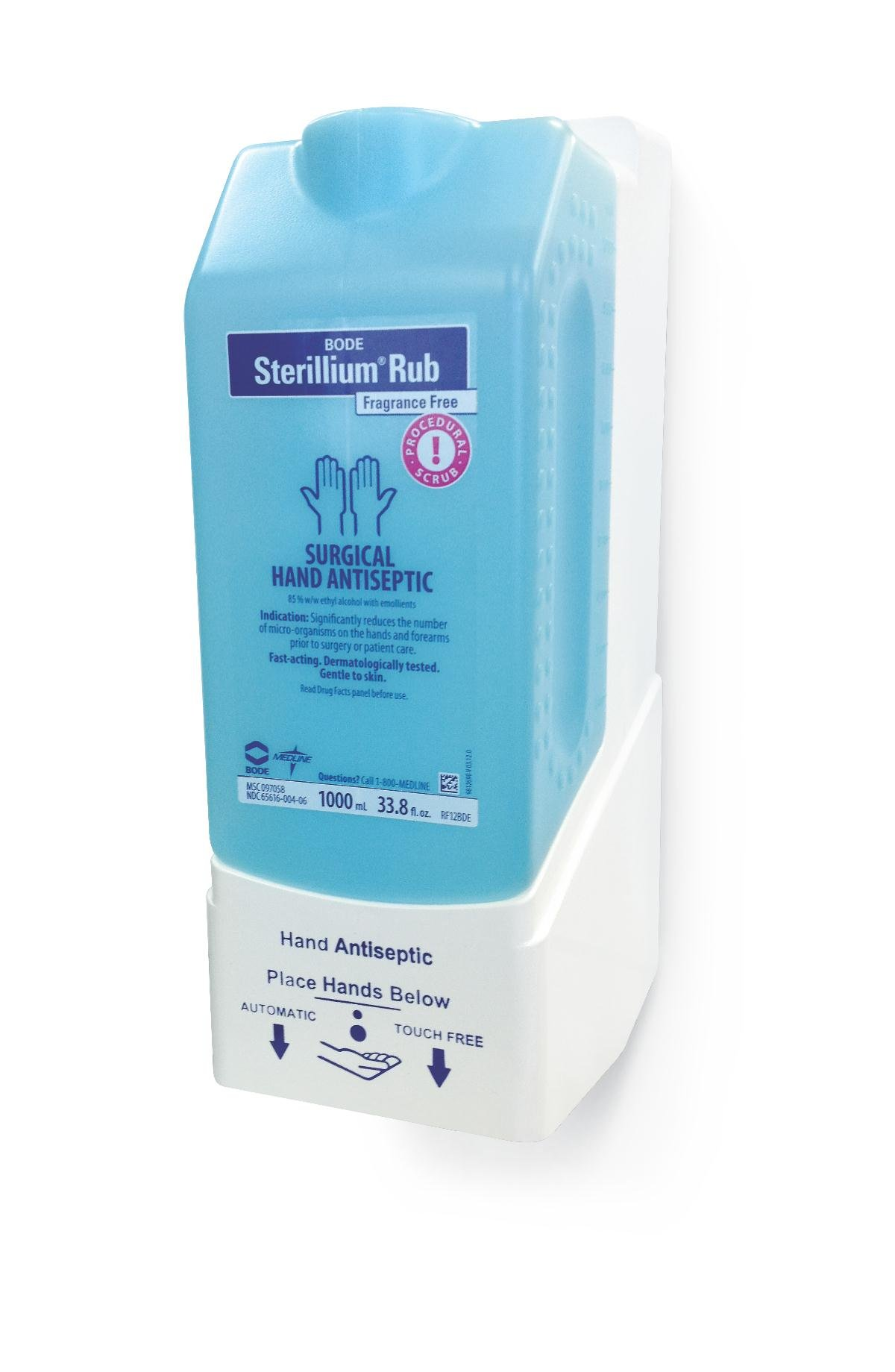Medline MSC097058H Fragrance Free Sterillium Rub Surgical Hand Scrub, Clear