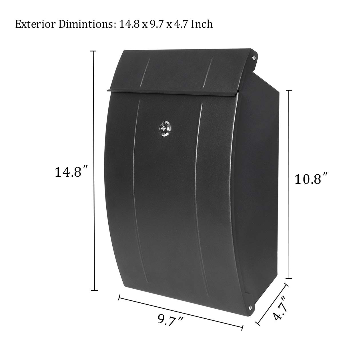 Amazon.com: Decaller Wall Mounted Mailboxes with Key Lock ...