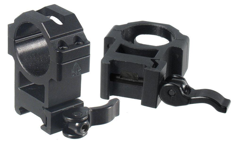 UTG Rq2W3224 Collares de Montaje para la Óptica, Unisex adulto, Negro, Única