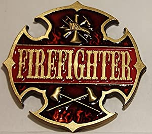 Firefighter Challenge Coin - Antique Gold Plated Edition by Thin Line Custom Graphics