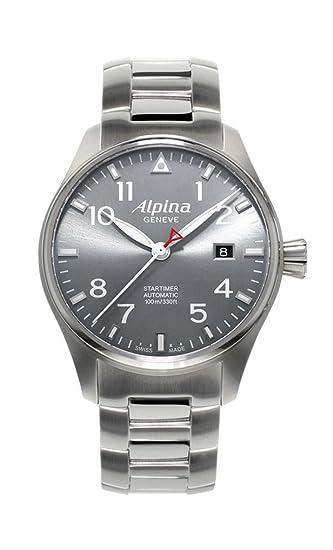Reloj Automático Alpina Startimer Pilot, Gris, Día, Edición Limitada: Amazon.es: Relojes