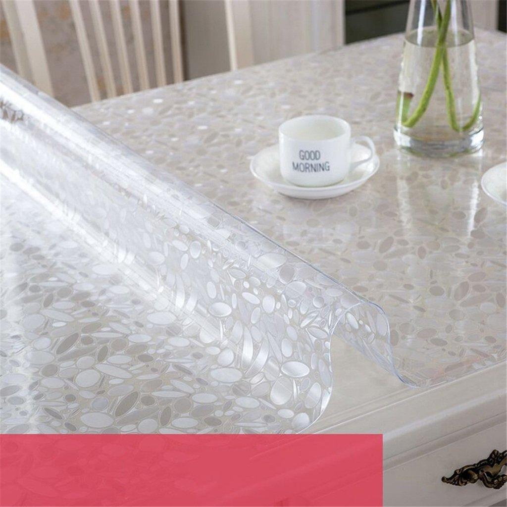 テーブルクロス 長方形テーブルクロス プラスチックテーブルクロス PVC素材 シンプルスタイル 小石 防水 防汚 帯電防止 ディナー ピクニック テーブルクロス お手入れ簡単 60x100cm 8965614 60x100cm  B07KR6BBTT
