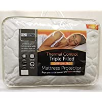 Highliving Quilted Mattress Protector Topper Cover, Extra Deep 12 Inches