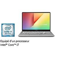 """Asus S530UN-BQ002T Ultrabook 15"""" FHD (Intel Core i7, Disque Dur 1 To + SSD 256 Go, 12 Go de RAM, Nvidia GeForce MX 150 2G, Windows 10) Clavier AZERTY Français"""