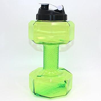 RBHT Botella de Agua con Forma de Mancuernas Creativas, de plástico, para Deportes al