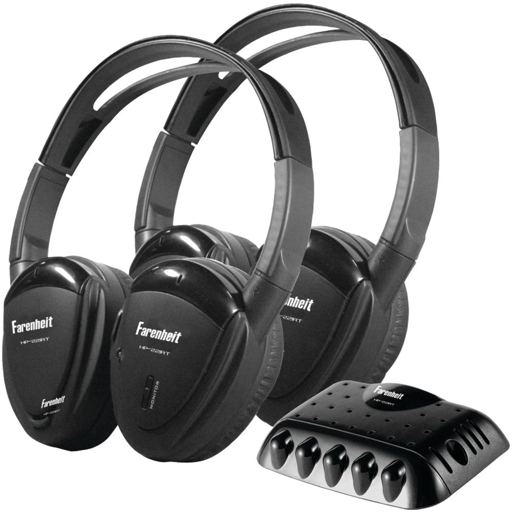 POWER ACOUSTIK HP-22IRT 2 Sets of Single-Channel IR Wireless Headphones with Transmitter Computers, Electronics, Office Supplies, Computing by POWER ACOUSTIK