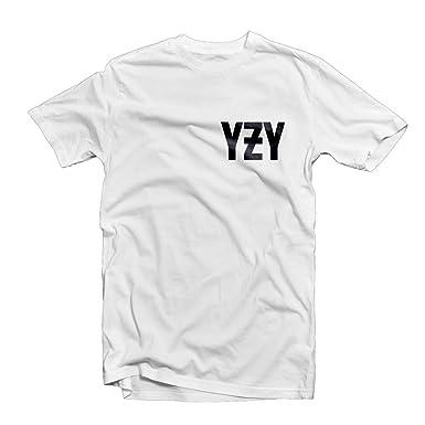 cb2e90fc YZY T SHIRT 1549 - I Feel Like Pablo Kanye West Yeezy YZY Yeezus Dope Swag  Hype Hipster Trill Hip Hop Wasted Youth (Medium, White): Amazon.co.uk:  Clothing