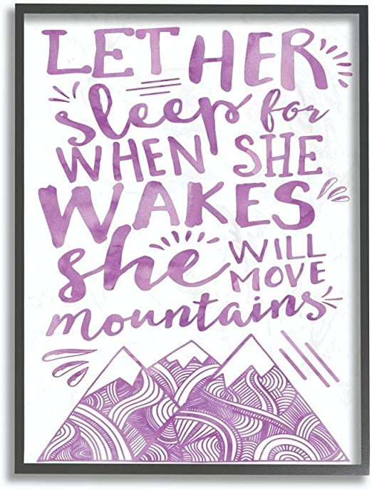 24 x 1.5 x 30 Stupell Home D/écor Let Her Sleep Pink Water Color Mountains Oversized Stretched Canvas Wall Art Proudly Made in USA