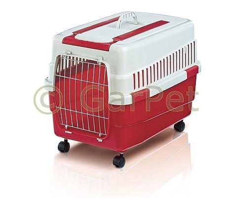 Caja de transporte con ruedas zieh Mango Perros caja de transporte perros gatos Caja