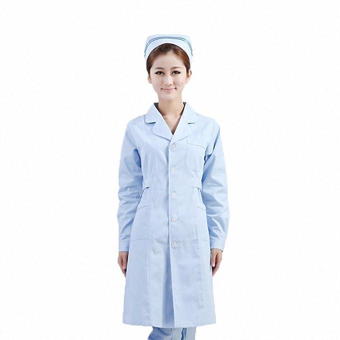 Xuanku Una Enfermera En Invierno Manga Larga Bata Blanca ...