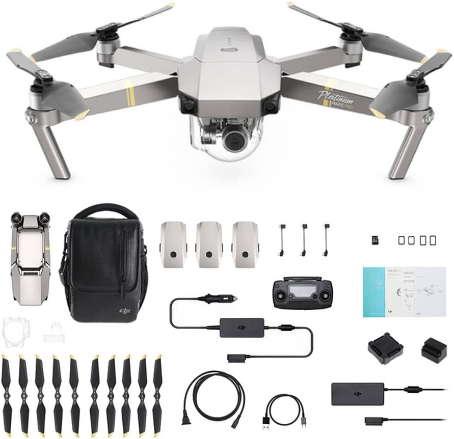 DJI Mavic Pro Fly More Combo Platinum Volo dispositivo Argento