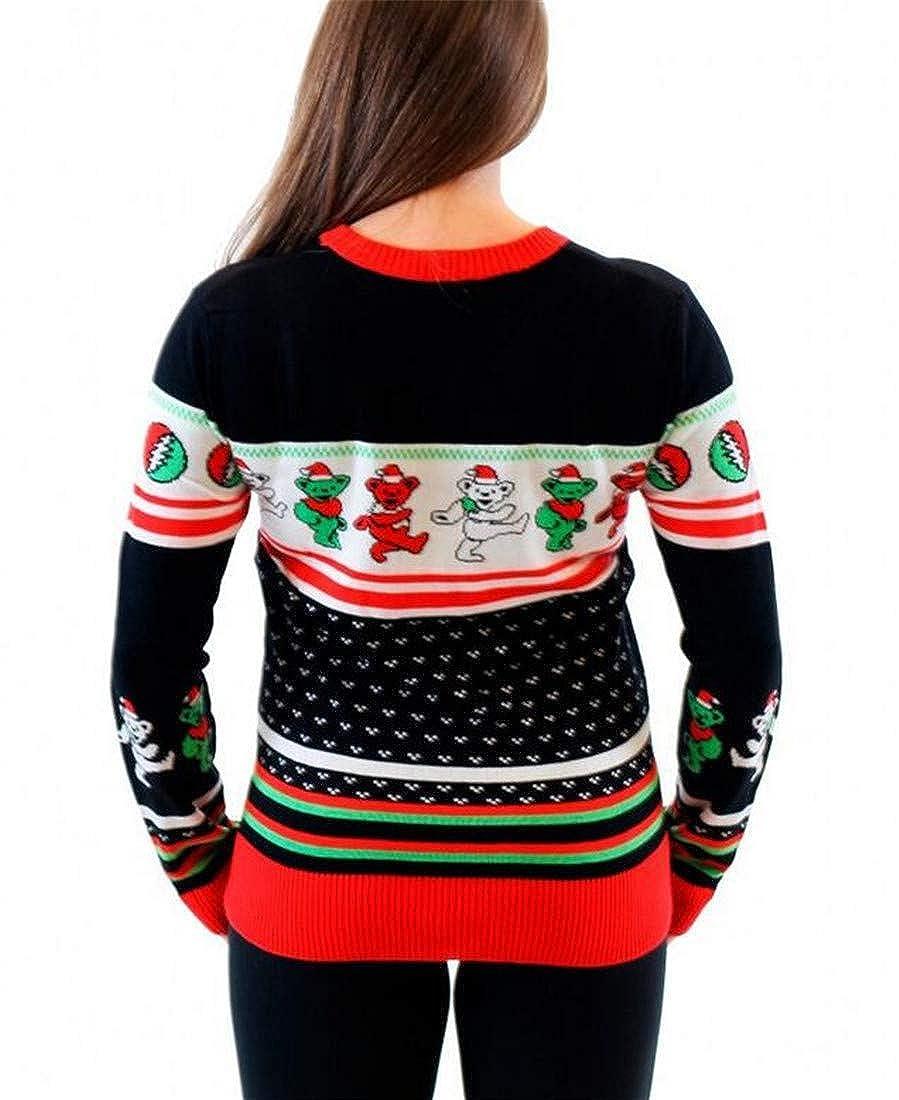 Cromoncent Womens Printed Striped Thicken Santa Slim Pullover Sweatshirts