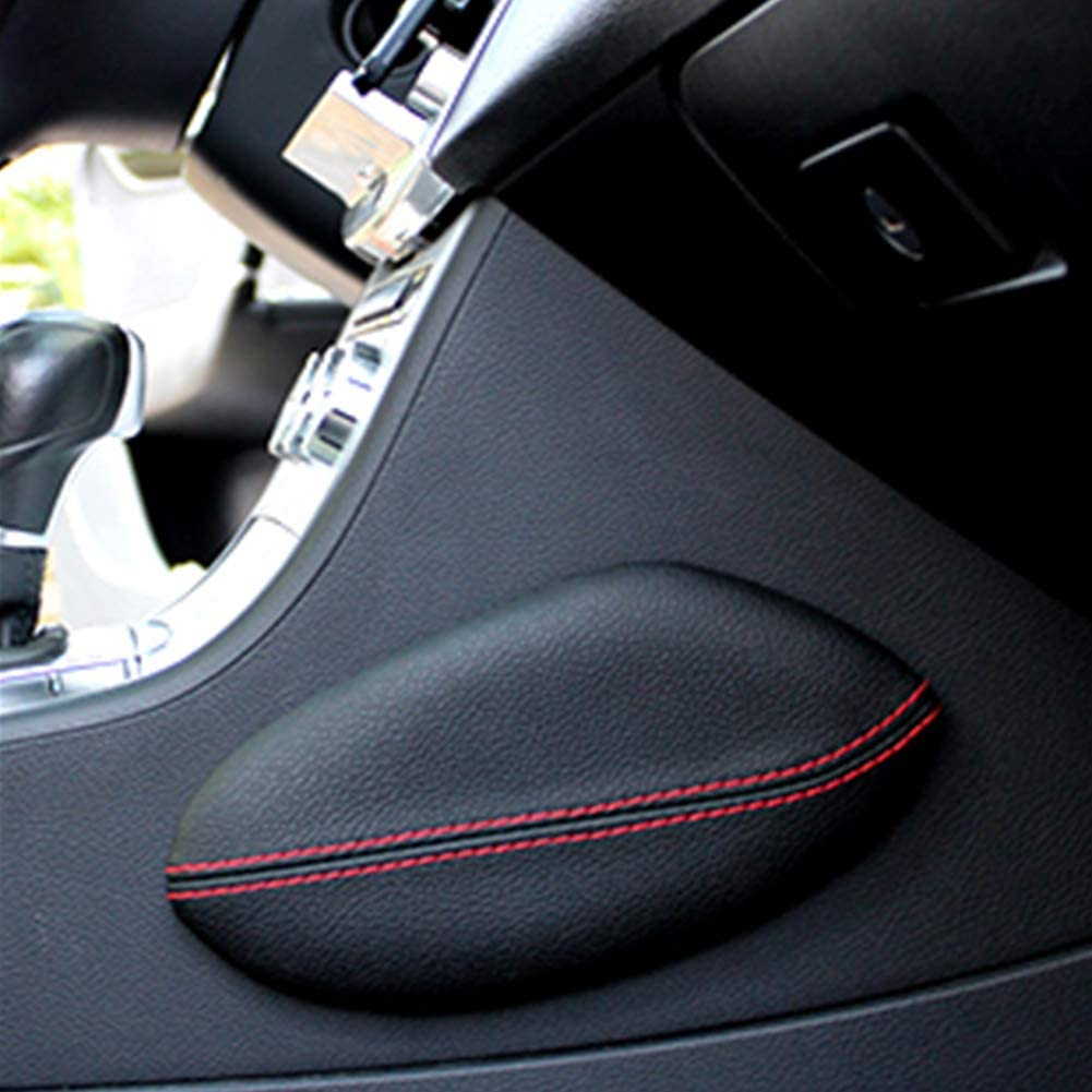 Sports Center Console Armrest Cushion Suede Line Black Red Stitch For Universal