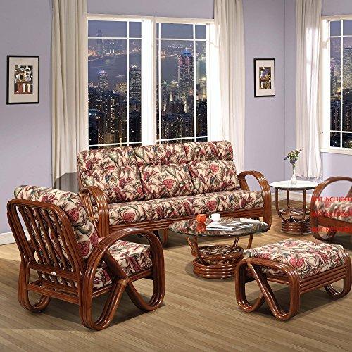 Premium Rattan Furniture Kailua 5pc Living Room Sofa Set Fully