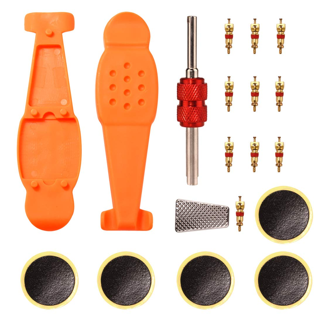 Yuauy 5 sets 2 in 1 Single Dual Head Valve Core Remover Tire Repair Tool