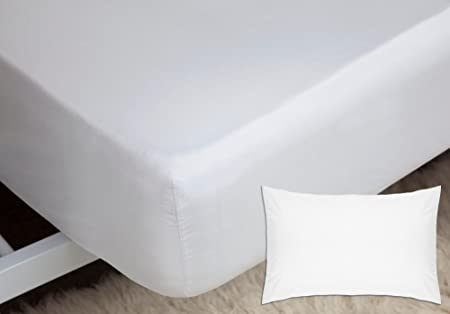 100/% Egyptian Cotton Fitted Bed Sheet Base Valance Sheets Housewife Pillowcases