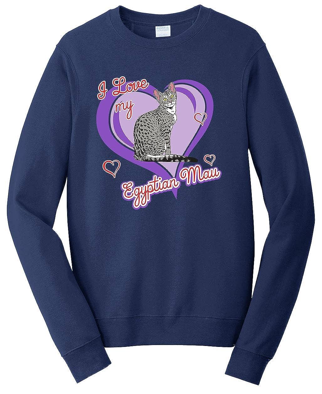 Tenacitee Unisex Egyptian Mau Cat Sweatshirt