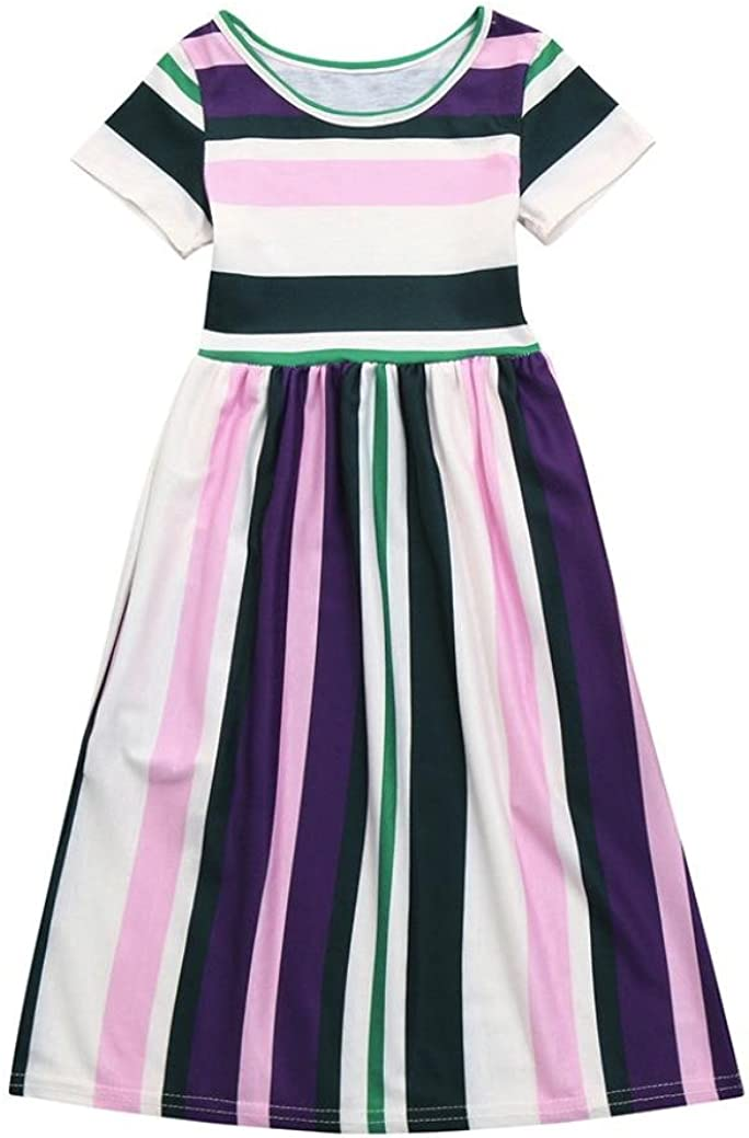 Girls Cotton Spotty Purple Dress 12-18 18-24 Months 2-3 3-4 4-5 5-6 6-7 Years