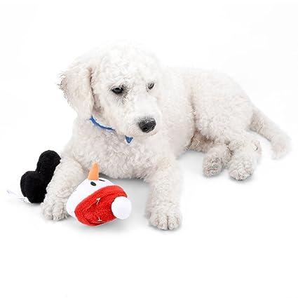 Ranphy - Juguete para masticar para perros pequeños, gatos, Papá Noel, juguete chirriante