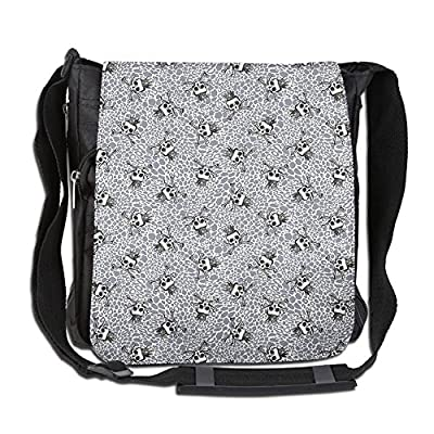 c1c34f85f5 Lovebbag Crowned Skull Crossbones Illustration Against Animal Print Pattern  Crossbody Messenger Bag 30%OFF