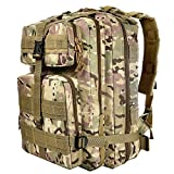 CVLIFE Outdoor Tactical Backpack Military Rucksacks for Camping Hiking Waterproof 30L (CP)