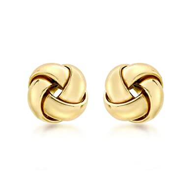 Carissima Gold Women's 9 ct White Gold Knot Stud Earrings 3cKwGZ
