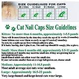 VICTHY 100 PCS Soft Pet Cat Nail Caps Cats Paws