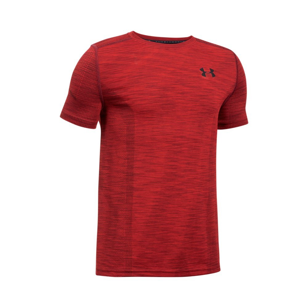 Under Armour Boys' Threadborne Seamless,Red /Black, Youth X-Small