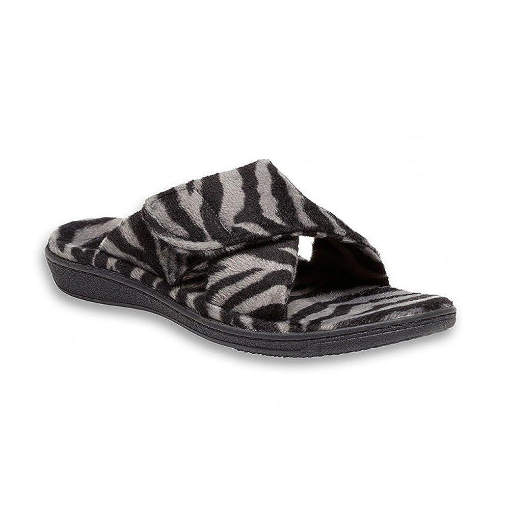 Dark Grey Zebra Orthaheel Women's Relax Slipper