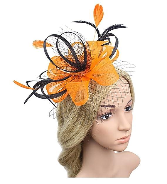 Old DIrd Womens Two-Tone Flower Hair Clip Cocktail Tea Party ... 90209d1a0cd