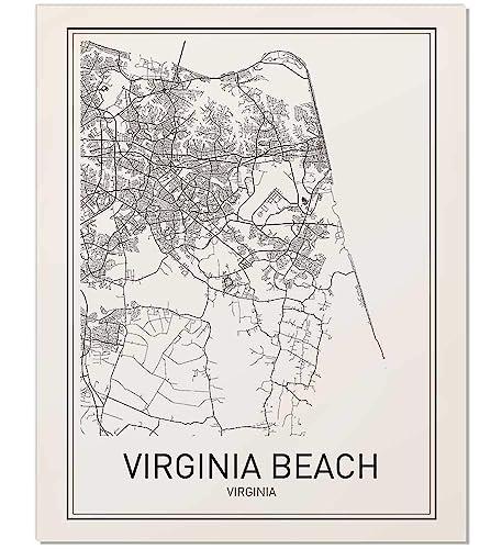 graphic regarding Printable Maps of Virginia named Virginia Seaside Poster, Map of Virginia Seaside, Virginia Seashore Map, Town Map Posters, Innovative Map Artwork, Metropolis Prints, Virginia Artwork, Bare minimum Print, Town