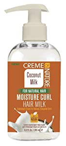 Creme Of Nature Coconut Milk Moisture Curl Hair Milk 8.3 Ounce (245ml) (2 Pack)