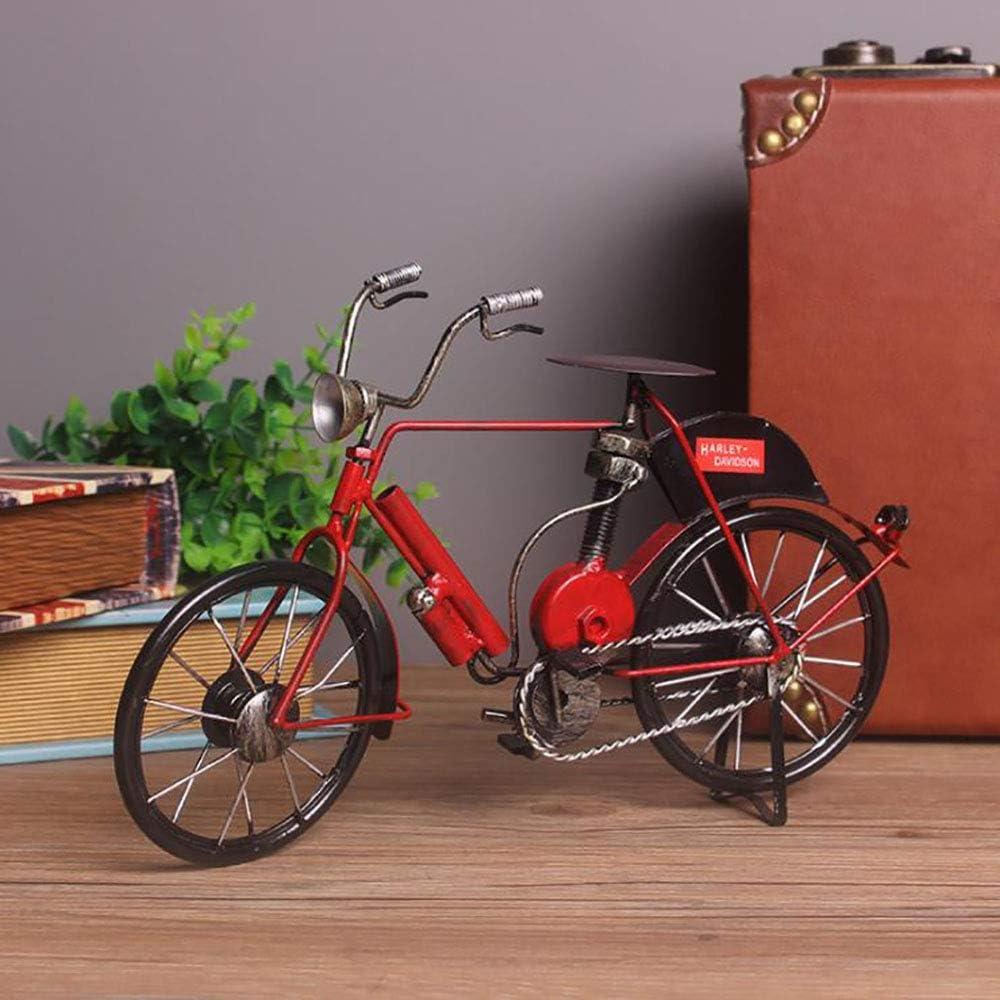 LIJUN Retro Creativo Hierro Bicicleta casa joyería Escritorio decoración Hecha a Mano Vieja Bicicleta Decorativa artesanías,Red: Amazon.es: Hogar