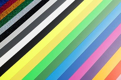 Amazon.com : Creative Kraftz Heat Transfer Vinyl Sheets | Set of 22 ...