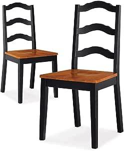 Dos cómodas y clásicas sillas de comedor, juego de 2 en