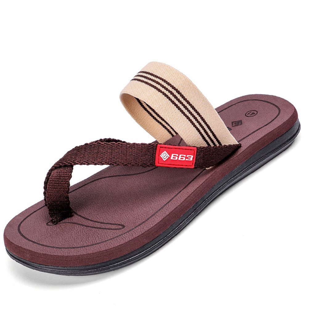 AODEW Men's Flip-Flops Thong Beach Slipper Clip Toe Slippers Non-Slip Sandals Casual Slippers