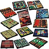 Kidsthrill 12 Mini Magnetic Travel Fun On The Way Best Board Games For Kids & Adults - Chess & Checkers, Tic-tac-toe, Racing, Snacks & Ladders & Many More - Free Bonus Race Day Car Game