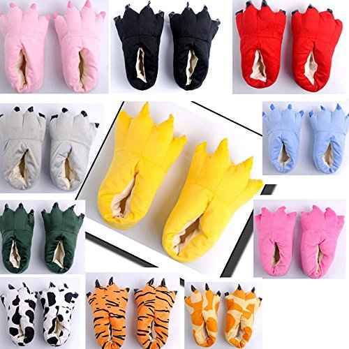 Dinosaurs Plush Shoes Color Cartoon Home Warm Flannel Slippers Female Soft Eastlion Winter Claws 8 Super TEqIwCO
