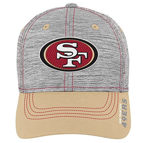 49ers Boys Francisco San Apparel - Outerstuff NFL NFL San Francisco 49ers Youth Boys Velocity Structured Flex Hat Heather Grey, Youth One Size