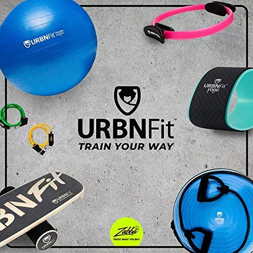 URBNFit Exercise Ball (Multiple Sizes) for Fitness, Stability, Balance and Yoga Ball. Workout Guide and Quick Pump Included. Anti Burst Design
