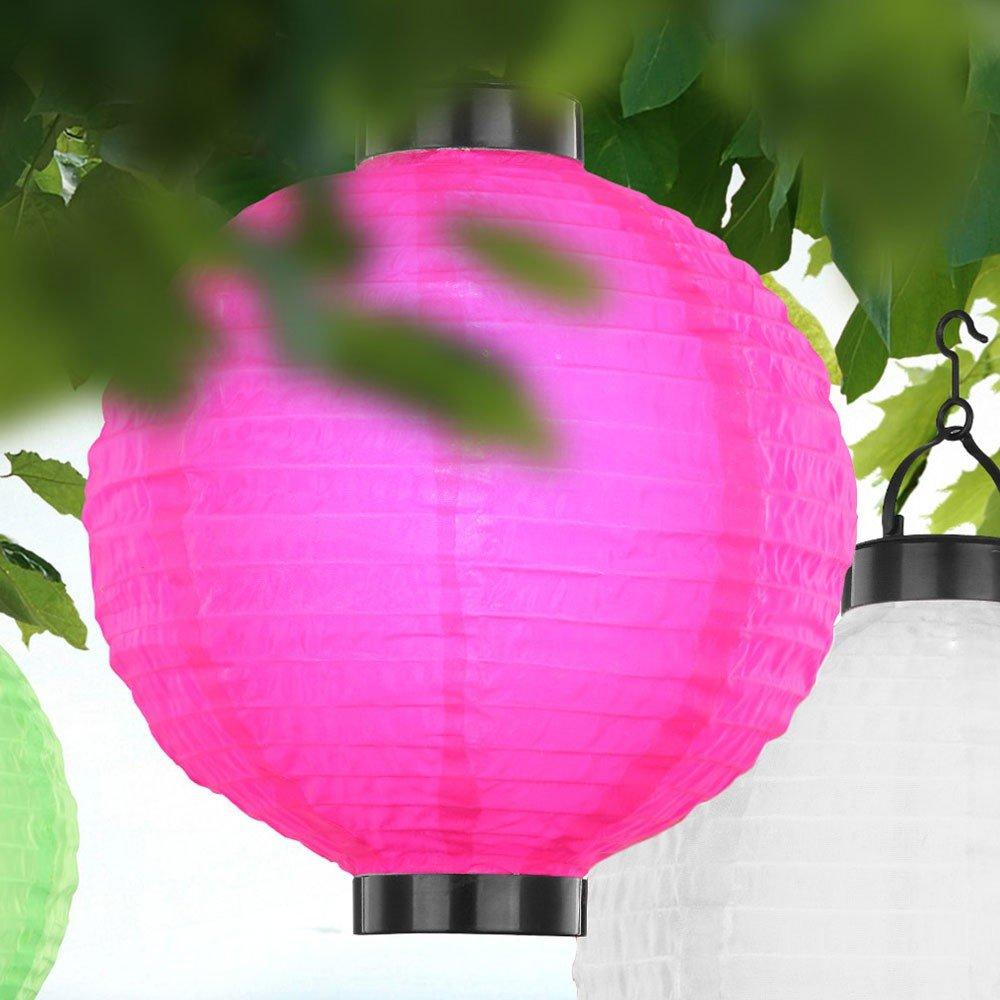 6er Set Deko Außenbeleuchtung LED Solarlampion Terrassen Leuchten DxH 25,5x37cm