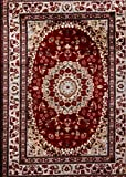 05840 Oriental Burgundy 5×7 Area Rug Carpet Large New Review