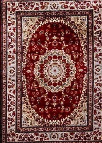 - Persian-Rugs 05840 Oriental Burgundy 5x7 Area Rug Carpet Large New