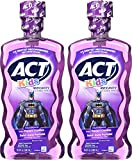 ACT Kids Anticavity Fluoride Rinse, Batman Fruit Punch, 16.9 Bottle (2-Pack)