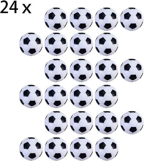 Tomkity 24pz Pelotas para Futbolín Mesa Futbolín Balones Fútbol Plástico Pelota de Recambio 32 mm para Infantil Adultos Negro Blanca: Amazon.es: Juguetes y juegos