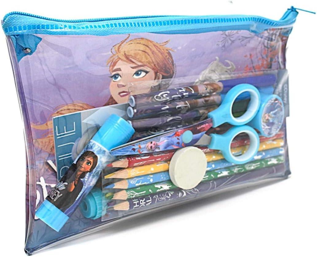 Kids Girls Disney Frozen 2 Filled Pencil Case Stationery Gift School