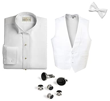 c355c422 White Pique Package-Pique Wing Shirt, Pique Vest, Bow Tie, Cufflinks ...